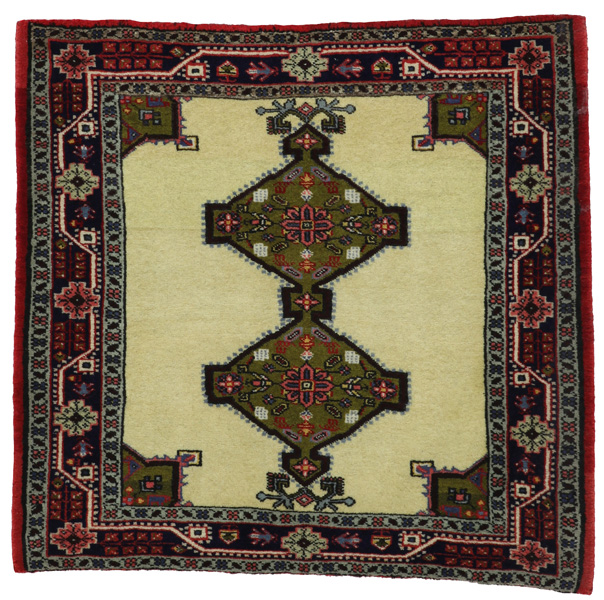 Jozan - Sarouk Persian Carpet 78x83